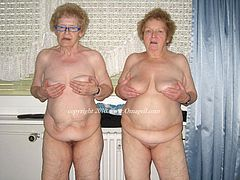 Collection of very old amateur grandmas