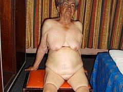 Old granny latin woman showed big boobs