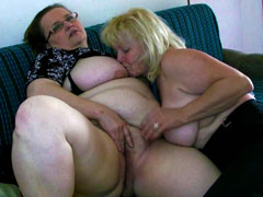 Two mature lesbians love hardcore fucking