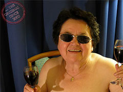 Sexy old granny masturbating horny pussy