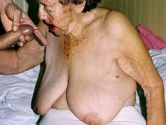 Amazing old granny amateur lady in action