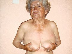 Old chubby granny lady have pretty breasts