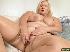 Old mature granny blonde fat bbw chunky