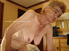 Grandmas showing off their wrinkled body