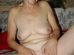 Grandma porn showing mature older pussy