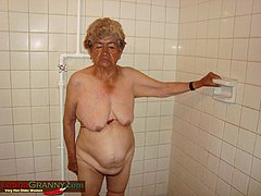 Naked old granny is relaxing nude pictures