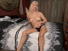 Old sweet granny from usa masturbated