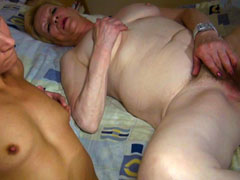 Mature women threesome with young couple