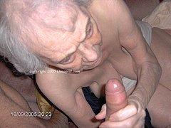 Lovely wrinkled grannies sucking cocks