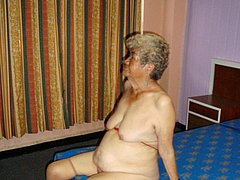 Old granny showing off her amazing body