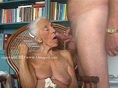 Over 90 year old skinny grandmas posing