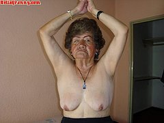 Amateur granny have a huge old nipples