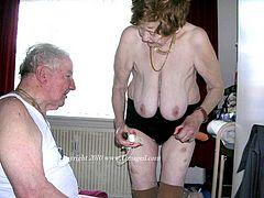 Old senior couples having naughty fun