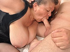 Grannies with beautiful tits will enjoy pleasure