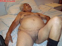 Amateur granny Gerttude repose in the bed
