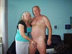 Big Boobed Granny Stripped and Fucked