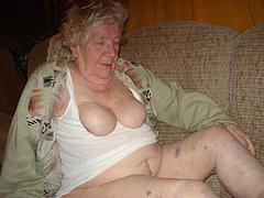 Fat granny masturbating hairy pussy