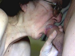 Ninety year old granny sucking huge dick