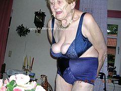 Wrinkled grandmas 65+ getting naughty