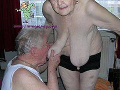 Granny mother fucks her ass and pussy