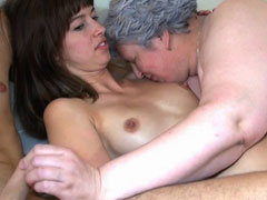 Chubby granny threesome sex adventure
