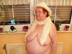 Chubby busty old granny women all naked